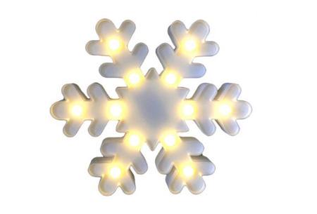 LED lamp in verschillende figuren | Origineel en trendy - keuze uit 13 figuren Sneeuwvlok