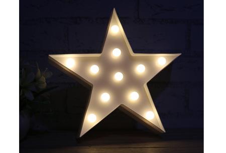 LED lamp in verschillende figuren | Origineel en trendy - keuze uit 13 figuren Ster