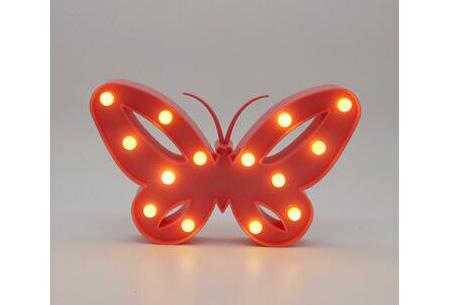 LED lamp in verschillende figuren | Origineel en trendy - keuze uit 13 figuren Vlinder