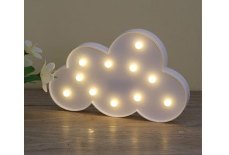 LED lamp in verschillende figuren | Origineel en trendy - keuze uit 13 figuren Wolk