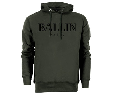BALLIN Paris heren hoodie | Originele trui van topkwaliteit Army groen