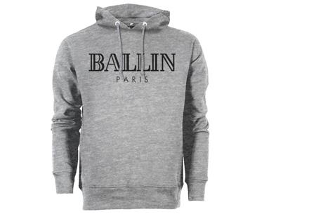 BALLIN Paris heren hoodie | Originele trui van topkwaliteit Grijs