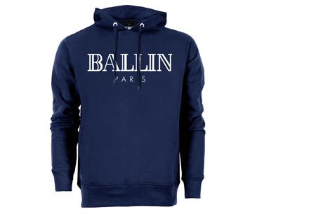 BALLIN Paris heren hoodie | Originele trui van topkwaliteit Navy