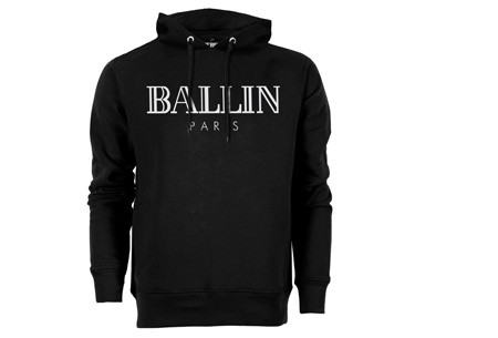 BALLIN Paris heren hoodie | Originele trui van topkwaliteit Zwart