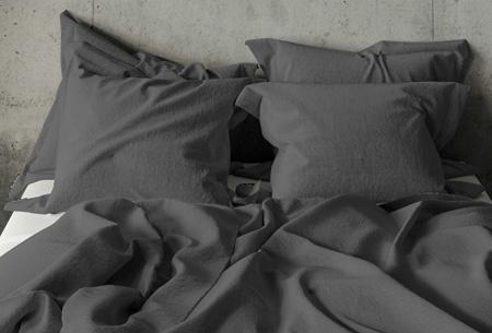Pierre Cardin dekbedovertrek Maat 140 x 200/220 cm - Antraciet