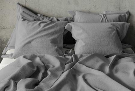 Pierre Cardin dekbedovertrek Maat 140 x 200/220 cm - Lichtgrijs