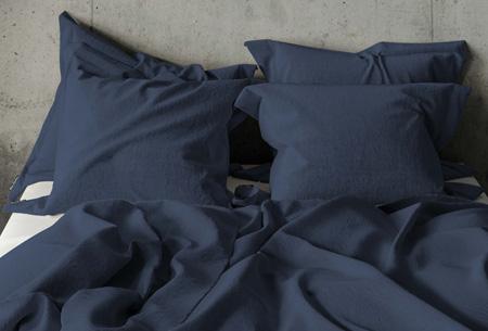 Pierre Cardin dekbedovertrek Maat 140 x 200/220 cm - Navy