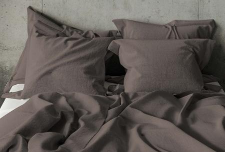 Pierre Cardin dekbedovertrek Maat 140 x 200/220 cm - Taupe