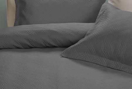 Luxe Wave bedsprei met bijpassende sierkussenslopen | Voor een chique uitstraling!
