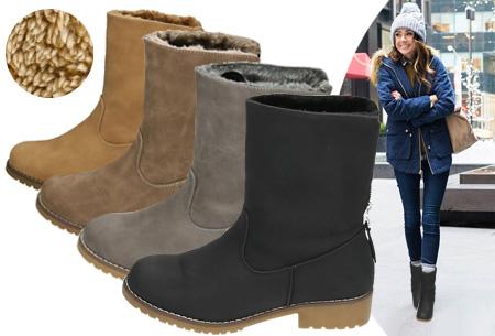 Gevoerde Zipper enkellaarsjes   Stijlvolle winterschoenen met imitatiebont