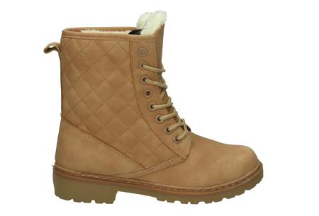 Gevoerde Pattern boots | Met heerlijk warme fluffy binnenvoering  Beige