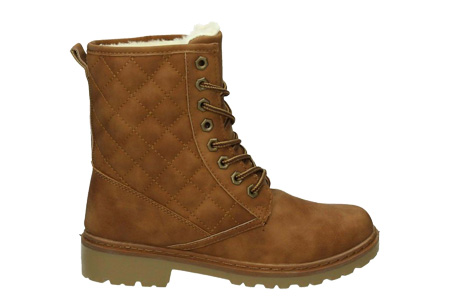 Gevoerde Pattern boots | Met heerlijk warme fluffy binnenvoering  Camel