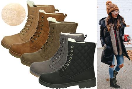 Gevoerde Pattern boots