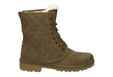 Gevoerde Pattern boots | Met heerlijk warme fluffy binnenvoering  Khaki