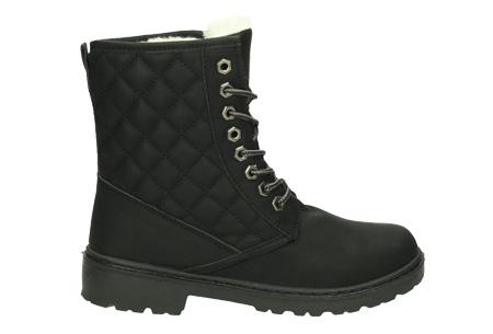 Gevoerde Pattern boots Maat 39 - Zwart