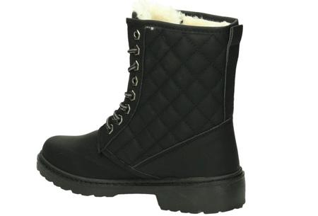 Gevoerde Pattern boots | Met heerlijk warme fluffy binnenvoering