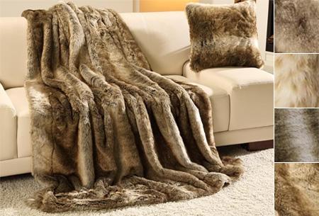 Dagaanbieding: Luxe faux fur plaid nu in de aanbieding