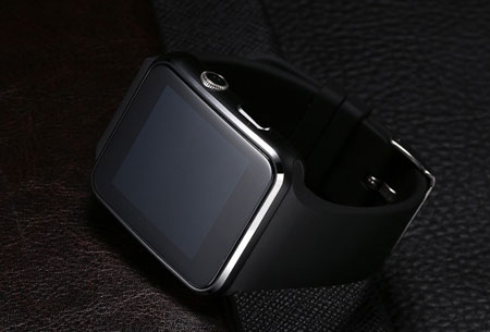 Smartwatch Parya | Slimme gadget voor berichten, mail, pushberichten, etc.  zwart