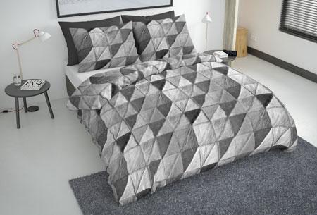 Flanellen fresh dekbedovertrekken   Hoogwaardig zacht materiaal voor optimaal slaapcomfort 3 - mozaik grey
