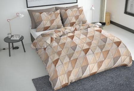 Flanellen fresh dekbedovertrekken   Hoogwaardig zacht materiaal voor optimaal slaapcomfort 4 - mozaik taupe