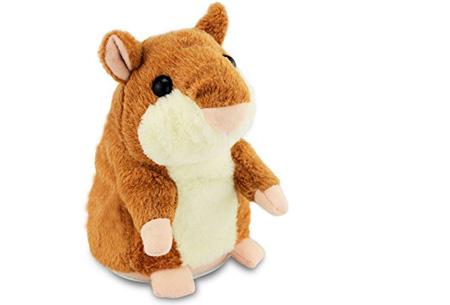 Hammie de pratende hamster | Schattig knuffelbeest dat alles imiteert wat je zegt bruin