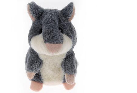 Hammie de pratende hamster | Schattig knuffelbeest dat alles imiteert wat je zegt grijs