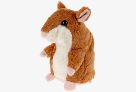 Hammie de pratende hamster | Schattig knuffelbeest dat alles imiteert wat je zegt
