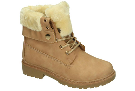 Enkellaarzen met fluffy binnenvoering | Heerlijk warme winterschoenen in maat 37 t/m 42