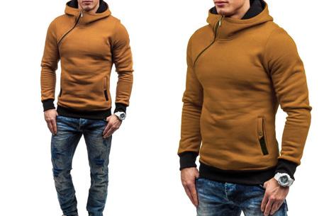 Zip hoodie | Met comfy fleece binnenzijde  Camel