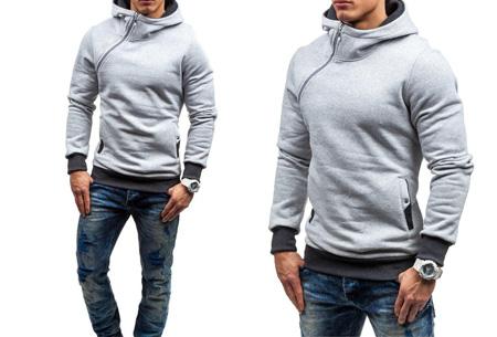 Zip hoodie | Met comfy fleece binnenzijde  Lichtgrijs