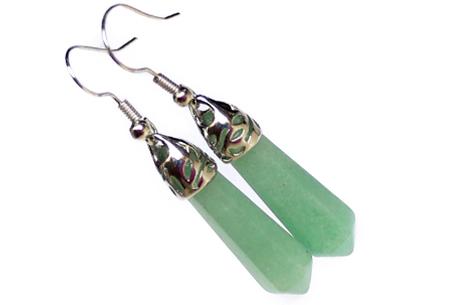 Natuursteen oorbellen | Elegante, trendy oorhangers met een heilzame werking Green Agate