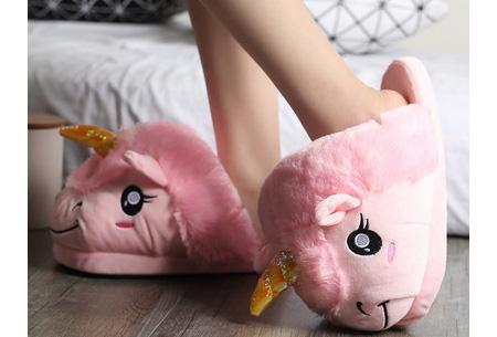 Eenhoorn sloffen | Knusse & warme pantoffels met unicorn ontwerp Roze