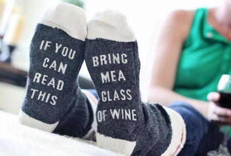 'Bring me wine' of 'bring me beer' sokken | Origineel en grappig #1 Wine