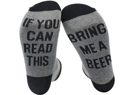 'Bring me wine' of 'bring me beer' sokken | Origineel en grappig #3 Beer