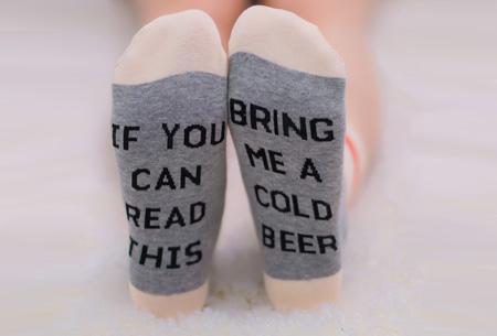 'Bring me wine' of 'bring me beer' sokken | Origineel en grappig #4 Cold beer