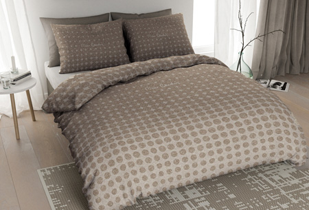 Pierre Cardin flanellen dekbedovertrekken | Comfortabel en warm slapen #4 Jersey Dot ecru
