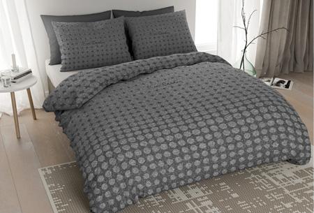 Pierre Cardin flanellen dekbedovertrekken | Comfortabel en warm slapen #3 Jersey Dot antraciet
