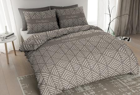 Pierre Cardin flanellen dekbedovertrekken | Comfortabel en warm slapen #7 Jersey Leaf taupe