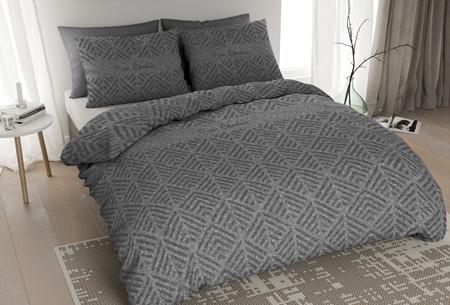 Pierre Cardin flanellen dekbedovertrekken | Comfortabel en warm slapen #5 Jersey Leaf antraciet