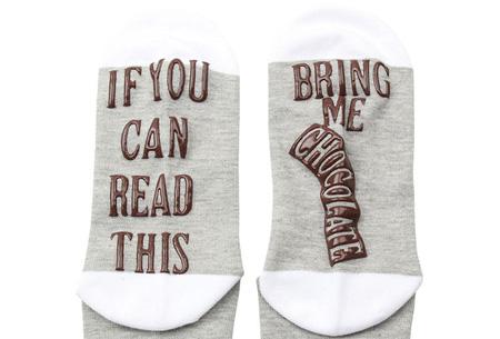 'Bring me chocolate' sokken | Origineel, grappig & in diverse kleuren