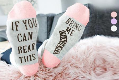 Bring me chocolate sokken