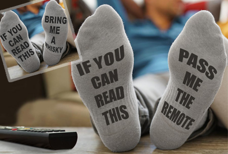 Bring me whisky of pass me the remote sokken | De ideale sokken voor de man