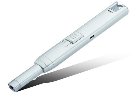 Lange elektrische aansteker | Oplaadbaar via USB zonder brandstof! grijs
