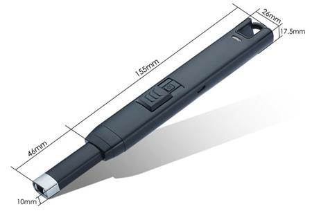 Lange elektrische aansteker | Oplaadbaar via USB zonder brandstof!