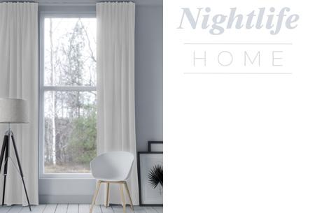 Nightlife Home verduisterende gordijnen | Kant & klaar in maar liefst 6 kleuren Créme