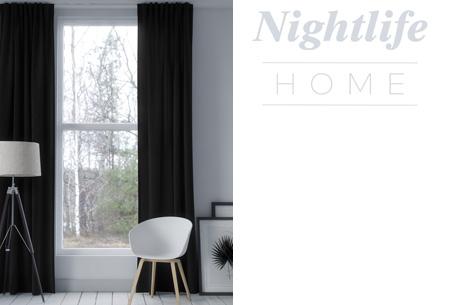 Nightlife Home verduisterende gordijnen | Kant & klaar in maar liefst 6 kleuren Zwart