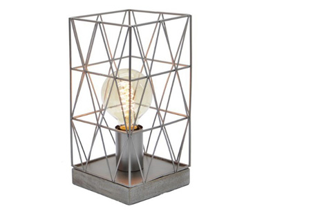 Bels lamp | Vintage tafellamp in een modern jasje Grijs