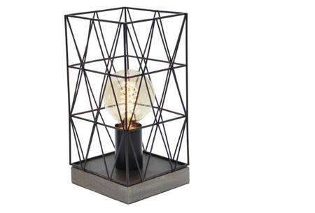 Bels lamp | Vintage tafellamp in een modern jasje Zwart