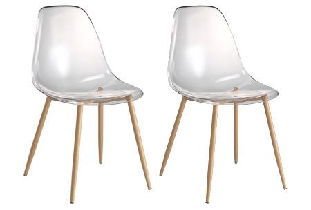 Set van 2 transparante Lucy stoelen | In 3 verschillende uitvoeringen #1