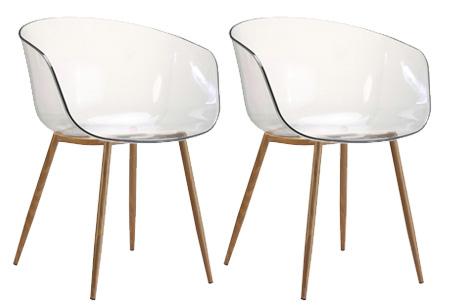 Set van 2 transparante Lucy stoelen | In 3 verschillende uitvoeringen #2